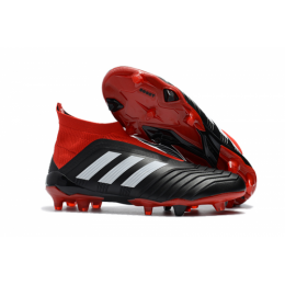 AD Predator 18+ without latchet FG boots-Red&Black