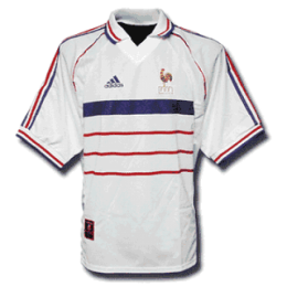 1998 France Retro Away White Soccer Jersey Shirt