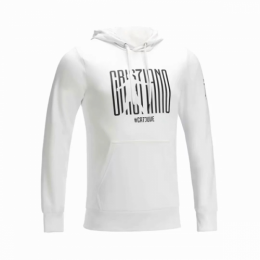 18-19 Juventus White Hoody Sweater