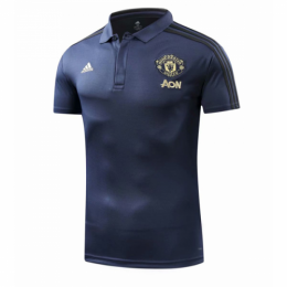 18-19 Manchester United Core Polo Shirt-Navy
