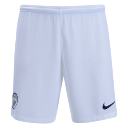 18-19 Manchester City Home White Jersey Short(Player Version)