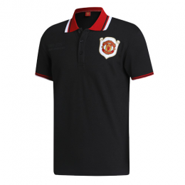 19/20 Manchester United Core Polo Shirt-Black