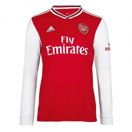 19/20 Arsenal Home Red Long Sleeve Soccer Jerseys Shirt