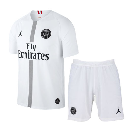 50f1de3f47d JORDAN PSG 18-19 KIT - BLACK. This image shows the black Air Jordan Paris  Saint-Germain jersey ...