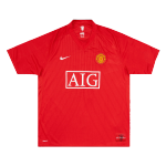 Retro 2007/08 Manchester United Home Soccer Jersey
